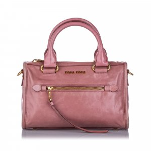 Miu Miu Vitello Shine Satchel