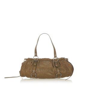 Miu Miu Shoulder Bag brown leather