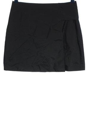 Miu Miu Jupe portefeuille noir moucheté style décontracté