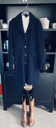 Miu Miu Manteau en laine bleu foncé
