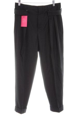 Miu Miu Pantalone di lana nero stile professionale