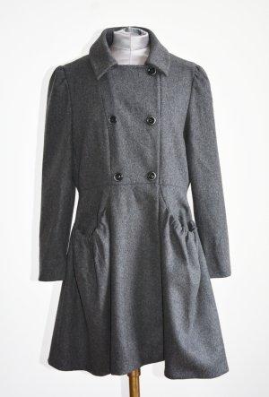 MIU MIU Wollmantel Kurzmantel Original Grau Caban Mantel IT 44
