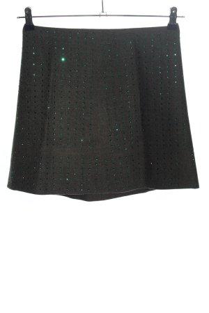 Miu Miu Falda de lana negro-verde look casual