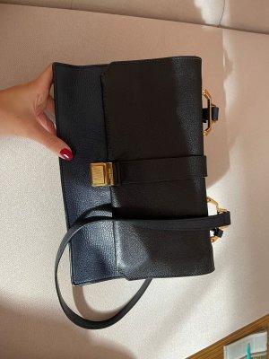 MiuMiu Gekruiste tas zwart-goud