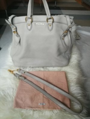 Miu Miu Shopper gris clair