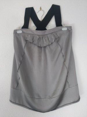 Miu Miu Silk Top silver-colored silk