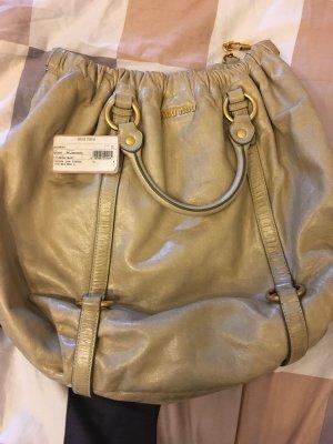 Miu Miu Bowling Bag oatmeal leather