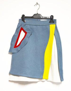 Miuniku Fashionweek Paris Wollrock Rock Wolle handmade Multicolor S