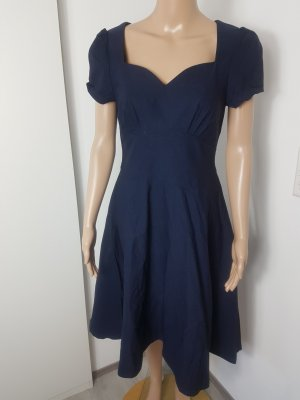 Miusol Vestido con enagua azul oscuro