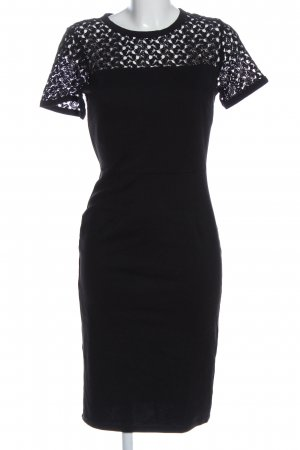 Miusol Kurzarmkleid schwarz Elegant
