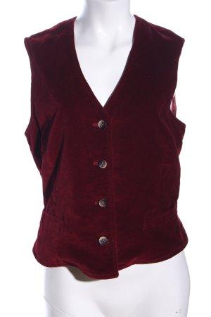 Fleece vest rood elegant