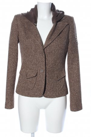 Mix & Ride Knitted Blazer brown-cream flecked casual look
