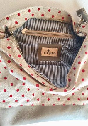 Miyas Accessoires Schultertasche mit Punkten Daisy beige/rot