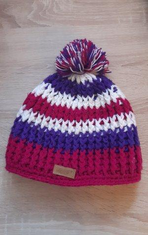 Sombrero de punto multicolor Lana
