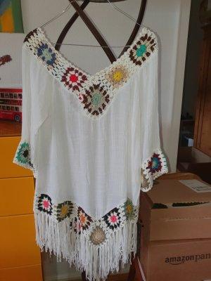 Beach Dress natural white-carmine