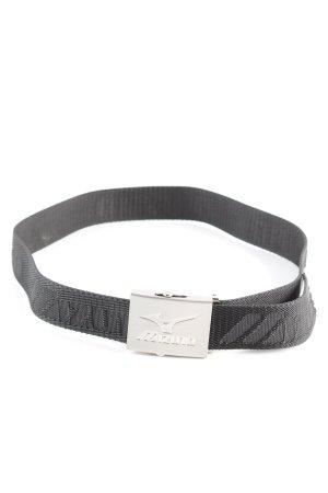 Mizuno Canvasgürtel schwarz-silberfarben Casual-Look