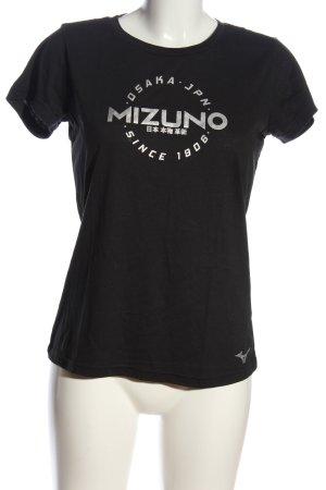 Mizuno T-shirt nero Stampa a tema stile casual