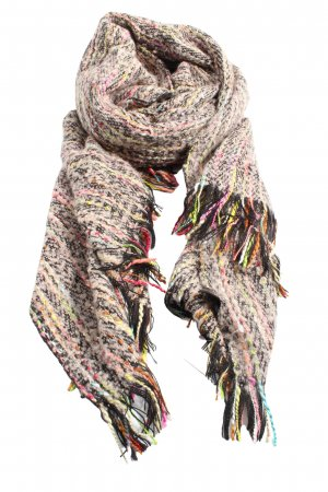 MJ Fringed Scarf flecked casual look