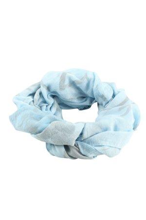 MJ Schlauchschal blau-hellgrau abstraktes Muster Casual-Look