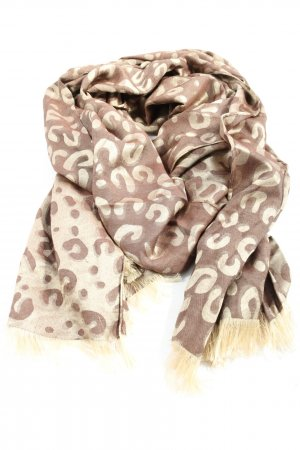 MJ Summer Scarf brown-natural white themed print casual look