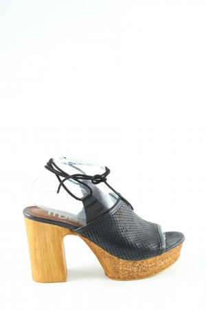 Mjus Clog Sandalen schwarz-braun Elegant