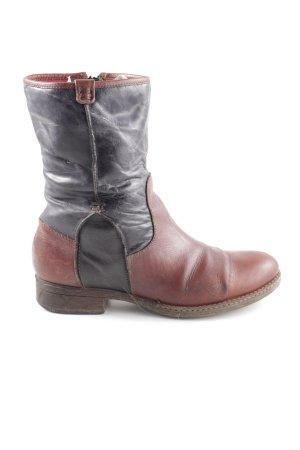 Mjus Halfhoge laarzen rood-zwart casual uitstraling