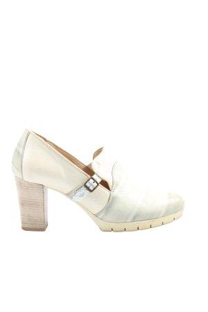 Mjus Chaussure à talons carrés blanc cassé-gris clair style décontracté