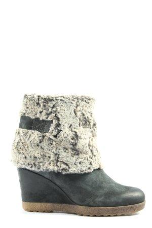Mjus Wedge Booties black-white casual look