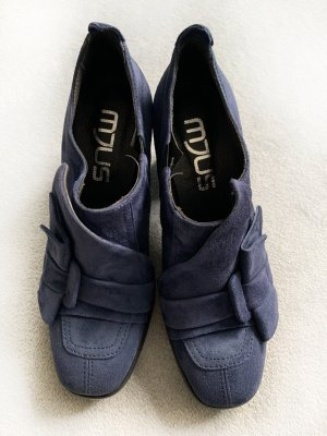 MJUS, Neue sportliche blaue Schuhe, Rauleder, Gr. 38