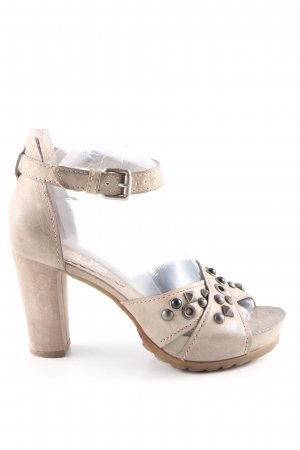 Mjus Platform High-Heeled Sandal cream elegant