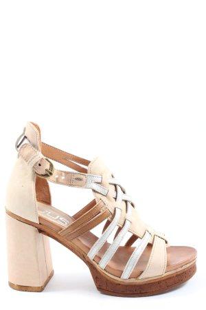 Mjus Riemchen-Sandaletten wollweiß-braun Casual-Look