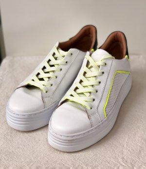 Mjus Plateau Sneaker low Bianco 38 neon gelb