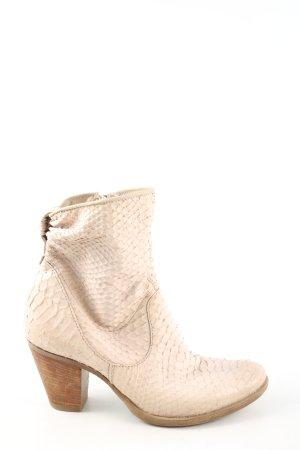 Mjus Buty w stylu western w kolorze białej wełny Zwierzęcy wzór