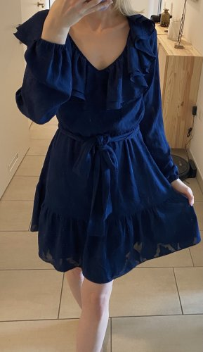 Michael Kors Abito cut out blu scuro