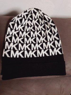 Bonnet blanc-noir coton