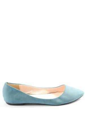 MKL faltbare Ballerinas blau Casual-Look
