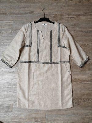 MKT Studio 38 Leinen Kleid beige blau