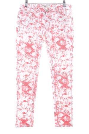 MKT Studio Skinny Jeans weiß-rot Casual-Look