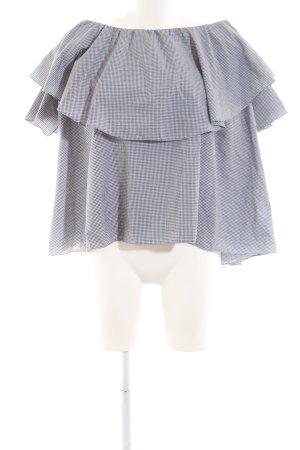 MLM Carmen-Bluse schwarz-weiß Karomuster Casual-Look