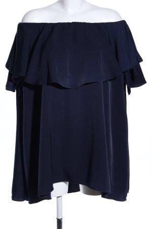 MLM schulterfreies Kleid blau Casual-Look