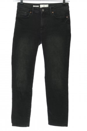 MNG Jeans a 7/8 nero stile casual
