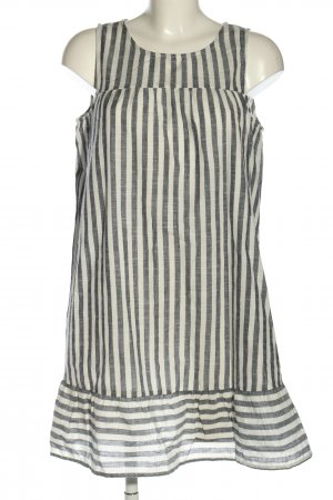 MNG A-Linien Kleid hellgrau-weiß Streifenmuster Casual-Look