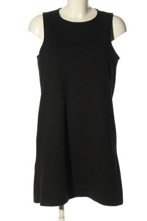MNG A-Linien Kleid schwarz Streifenmuster Casual-Look