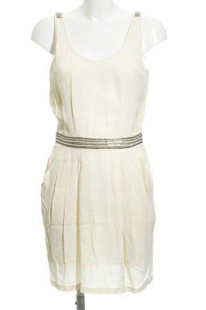 MNG A-Linien Kleid creme Paillettenverzierung