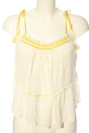 MNG A-Linien Top weiß-blassgelb Casual-Look