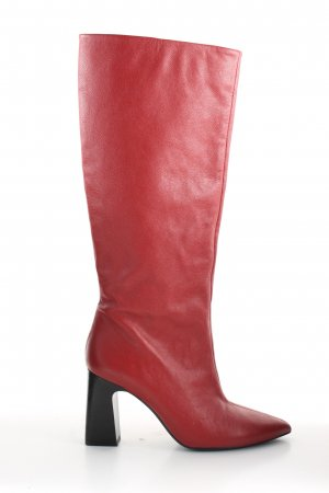 MNG Absatz Stiefel rot-schwarz Business-Look
