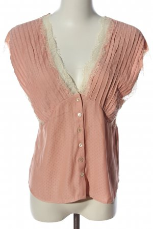 MNG ärmellose Bluse pink Punktemuster Casual-Look