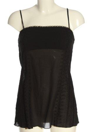 MNG ärmellose Bluse schwarz Casual-Look
