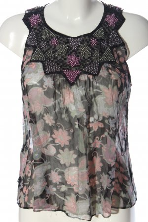 MNG ärmellose Bluse Allover-Druck Casual-Look