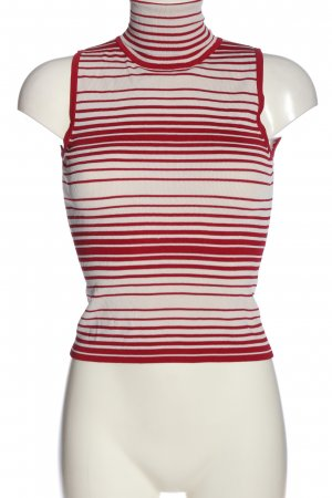 MNG ärmellose Bluse weiß-rot Streifenmuster Casual-Look